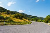 picture of italian alps  - Winding Paved Road in the Italian Alps - JPG