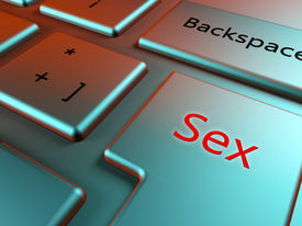 image of pornography  - Find sex online with a sex key in a elegant keyboard - JPG