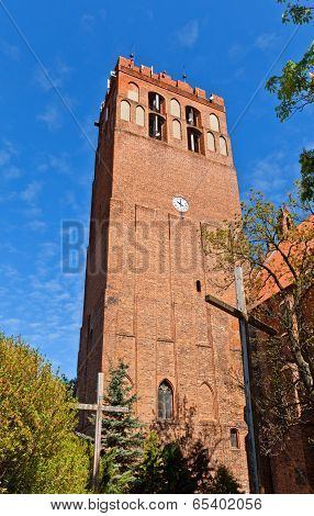 Belfry Of St. John Cathedral (1384) In Kwidzyn Town, Poland