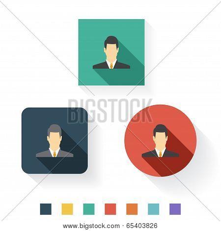 Admin Flat Icon Design
