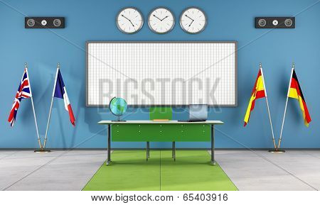 Classroom Of A Language School