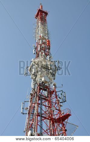 Tower with cell phone antennas