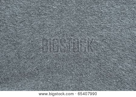 Texture Of Fleecy Knitted Fabric Gray Color