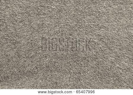 Texture Of Fleecy Knitted Fabric Gray Beige Color
