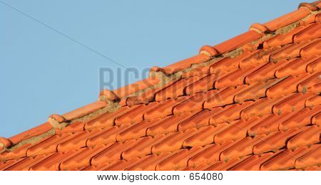 Roof Tiles And Blue Sky