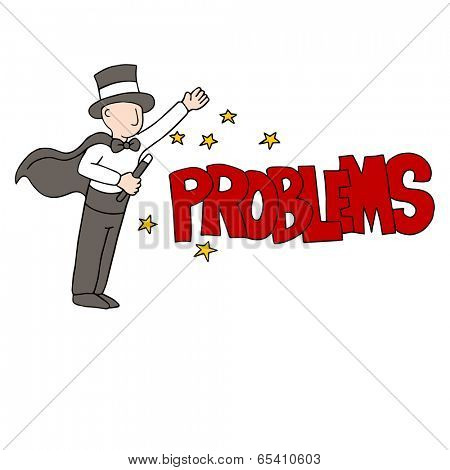 An image of a problem solving magician.