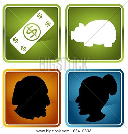 An image of retirement icons.