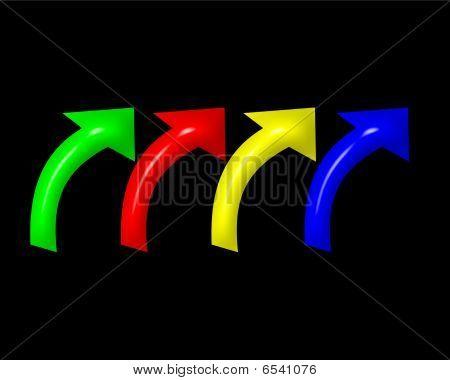 Curved Upward Arrows