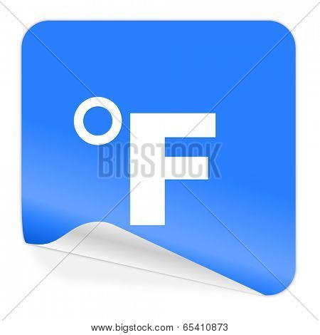 fahrenheit blue sticker icon