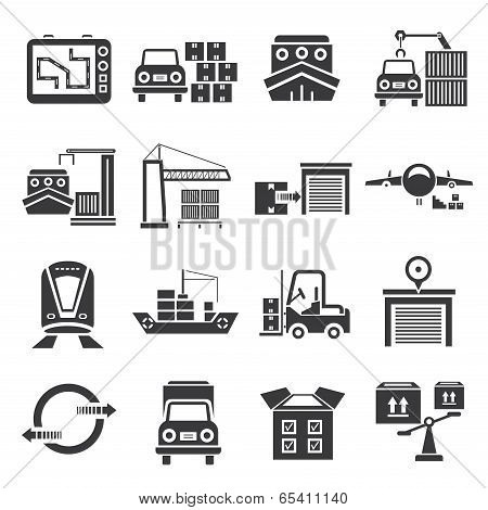logistic icons, car go icons