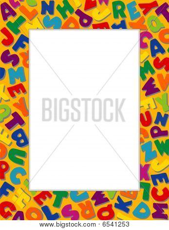 Alphabet Frame, Gold Background