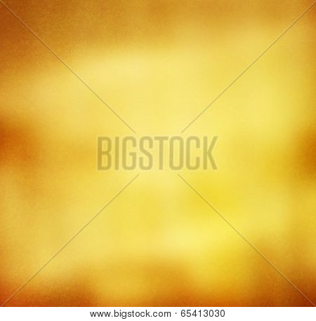 Abstract Gold Background Orange Yellow Tones With Subtle Textured Effect