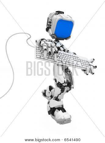 Blue Screen Robot, Keyboard Strum