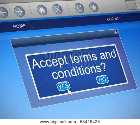 Terms And Conditions Concept.