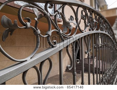 Detail Of A Decorative Iron Fence