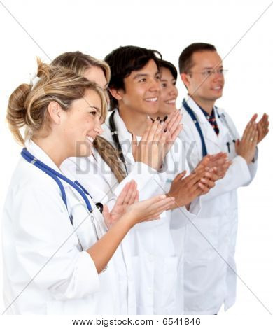 Group Of Doctors Applauding