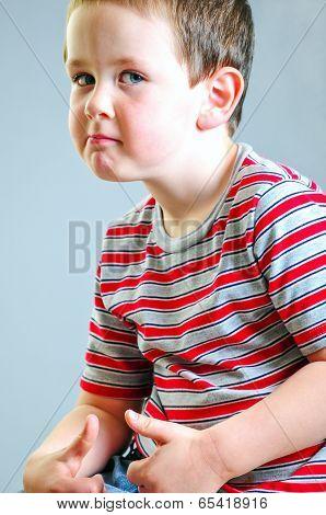 Little Boy Tough Guy Look