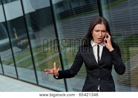 Beautiful Business Woman Bossy On The Phone
