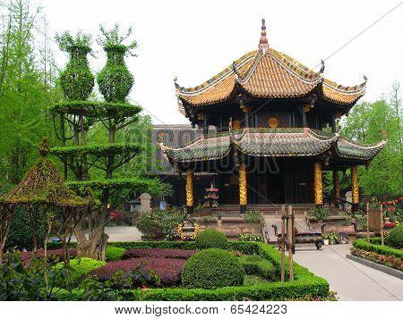 Qing Yang Gong Temple (green Goat Palace) In Chengdu, China