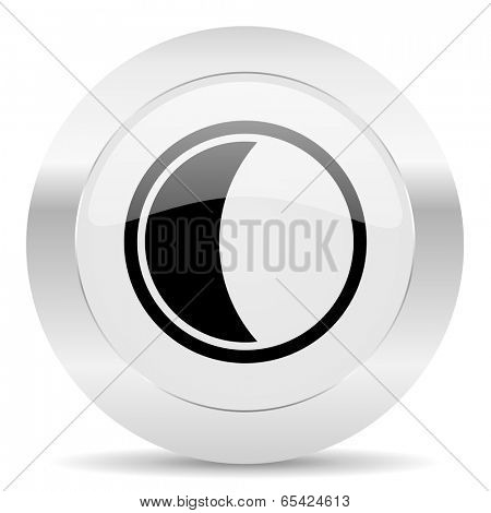 moon silver glossy web icon