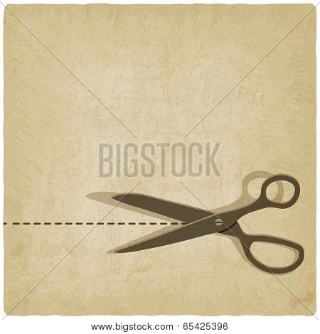 scissors cut lines old background