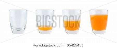 Four Glasses Of Orange Juice