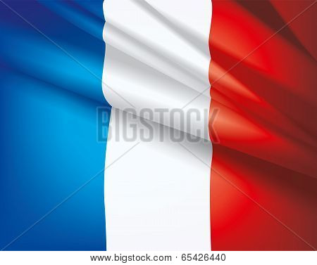 Flag Of France, Vector Background