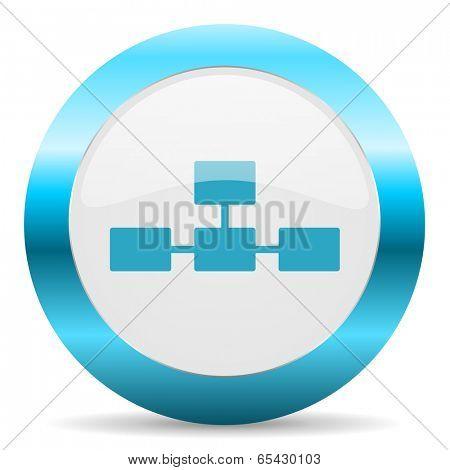 database blue glossy icon