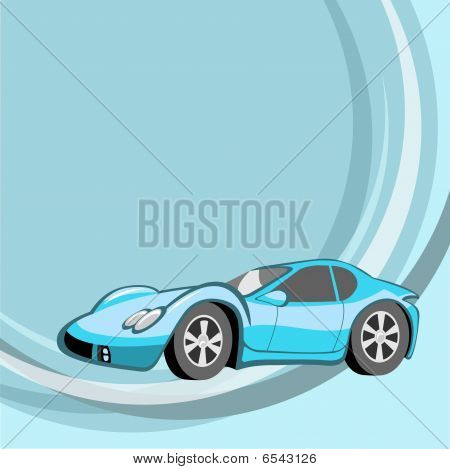 Funny Sport  Blue Car
