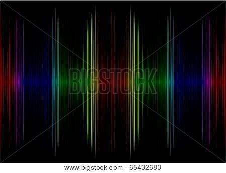 Abstract Multicolored Sound Equalizer As Background.