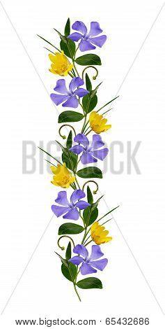 Ornamental Line With Wild Flowers