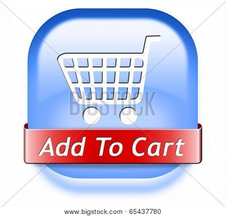 Add to cart button start shopping now icon go to the online webshop, internet web button