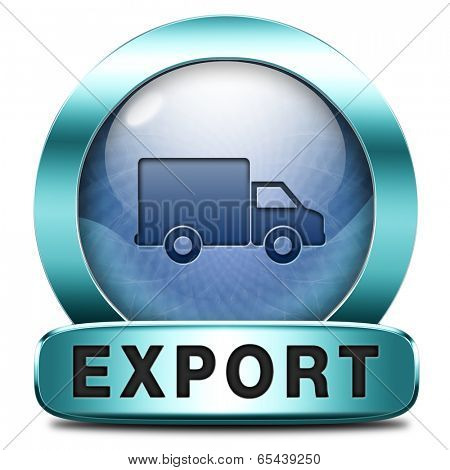 export icon international trade logistics freight transportation world economy exportation of products