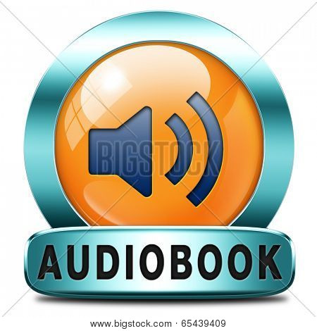 audiobook icon or sign listen online or buy and download audio book button