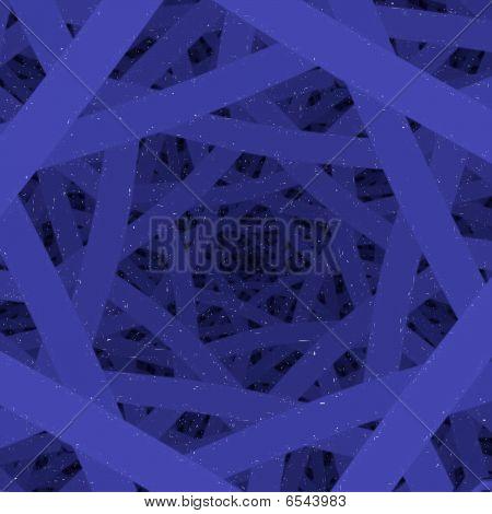 Blue Neon Stripes Tunnel