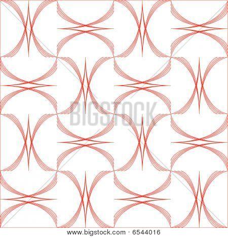 Patrón geométrico arcos aislado sobre fondo blanco