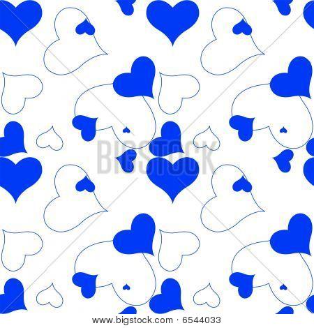 Heart Blue Pattern