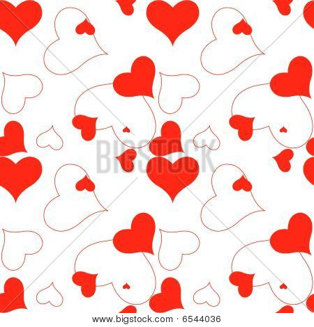 Heart Red Pattern