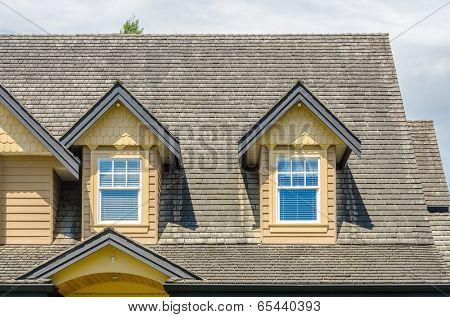 the roof of the house with nice window