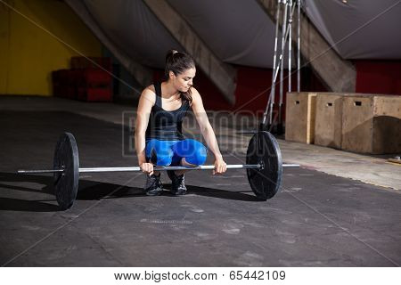 Cute Girl Lifting Weights