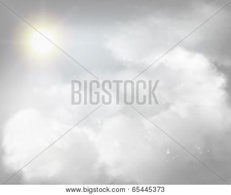 Shining sun. Vector illustration.