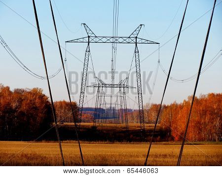 High-voltage Line Of 500 Kw