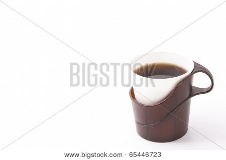 Coffee Poured Into A Paper Cup