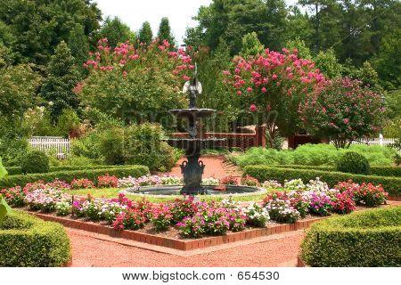 Formal Garden With Fountain