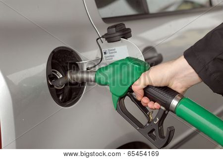 refilling the car