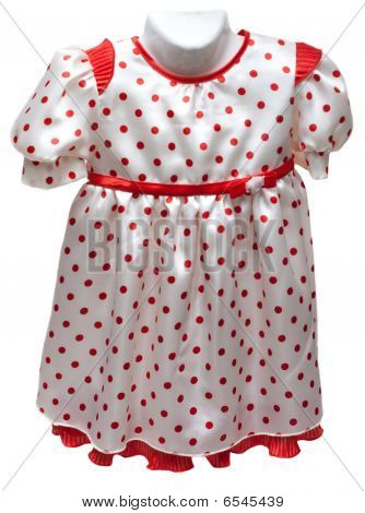 Baby Gown On Hatrack With Red Pattern