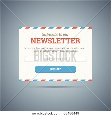 Newsletter subscribe form for web and mobile.