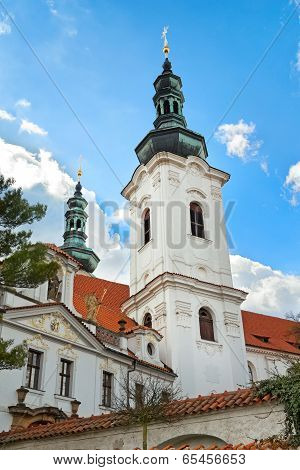 Prague, Czech Republic - April 13: Strahov Monastery, Prague, Czech Republic