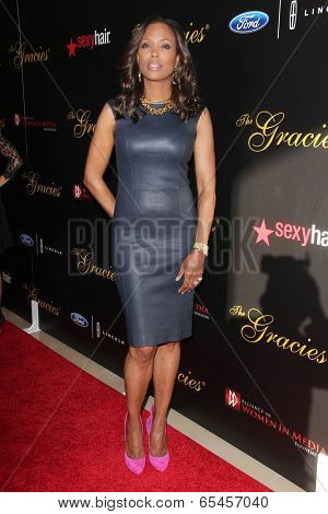 LOS ANGELES - MAY 20:  Aisha Tyler at the 39th Annual Gracie Awards at Beverly Hilton Hotel on May 20, 2014 in Beverly Hills, CA
