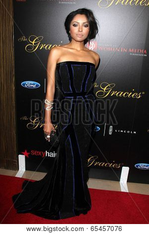 LOS ANGELES - MAY 20:  Kat Graham at the 39th Annual Gracie Awards at Beverly Hilton Hotel on May 20, 2014 in Beverly Hills, CA